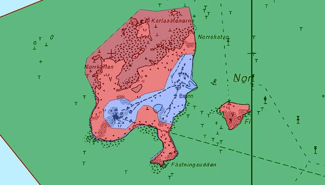 Tarkempi kartta. Punainen= rajoitusvyöhyke 1.4-30.7. Liila= virkistysvyöhyke.