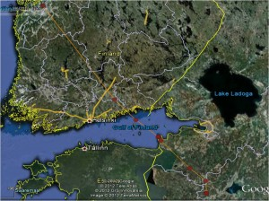 Aarne-mehiläishaukan satelliittipaikannukset 1.-6.9.2012.