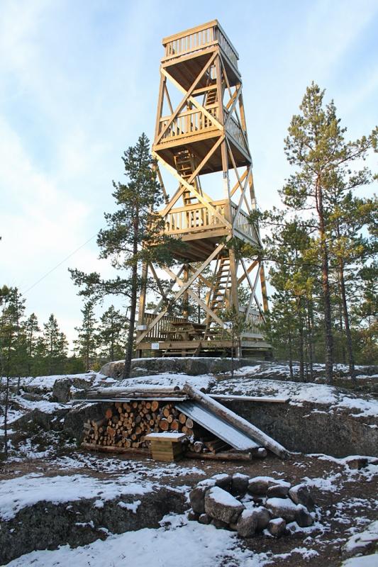 Karikatornet Mustasaaren Bodön Karikabergetillä 9.11.2012. Kuva: Aarne Lahti.